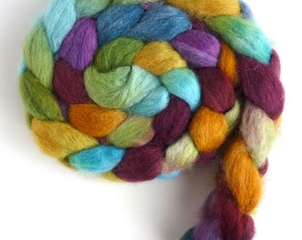 Mirror Lake, Pre-Order CTA Spin-Along, BFL Wool Roving - Hand Painted Spinning or Felting Fiber