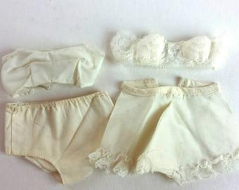 Vintage Doll Underwear Bra Panties