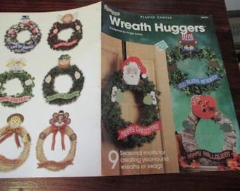 Plastic Canvas Patterns Holiday Wreath Huggers Needlecraft Shop 844731 Plastic Canvas Pattern Leaflet