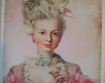 MARIE ANTOINETTE  - Set of 4 Notecards and envelopes - MAMB 76787