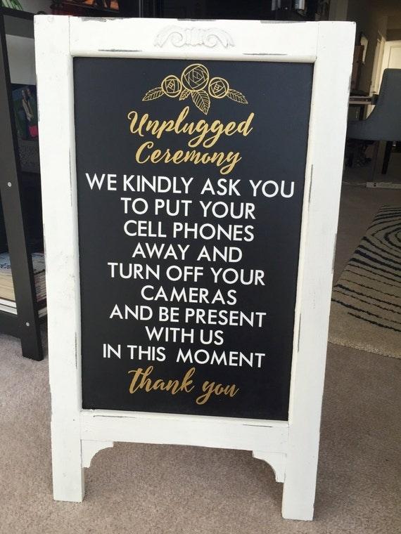 Wedding Unplugged Ceremony Sayings Custom Wall Decor Words