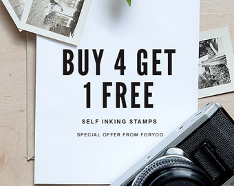 Self Inking Address Stamps - Buy 4 Get 1 Free + Free Proofs - Special
