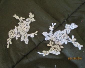 Lace Applique  Off  White Lace Applique  Bridal  Wedding Dress 2 Appliques