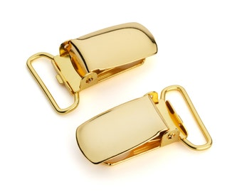 "10pcs - 3/4"" Suspender Clip - Gold - Free Shipping (SUSPENDER CLIP SPN-109)"