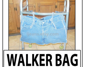 Recycled Denim Blue Jean Walker Bag-2