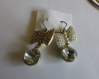 cute bow dangle earrings