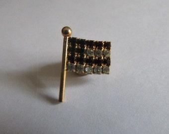 rhinestone lapel pin flag
