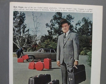 "Luggage 131  ""Bob Hope for American Tourister Luggage""  Ad   -  January 1966"