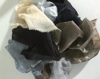Silk Treasure Bag - Neutrals, silk scraps