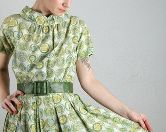 ON SALE Vintage Green Dress