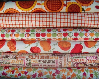 6 Fat Quarters Bundle of Benartex's Sunflower Daze Fabrics by Kanvas Studios ~ 1.5 yards total