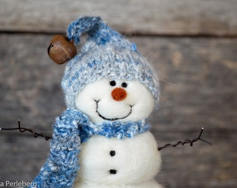 Needle Felted Snowman | felted wool snowmen | Christmas Decor  777