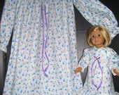 Matching Flannel & Lace nightgowns...sz. 12 FREE SHIPPING