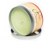 Vanilla Mint Travel Tin Scented Soy Candle