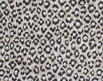 1980s Vintage Wallpaper Black Leopard Print by the Yard