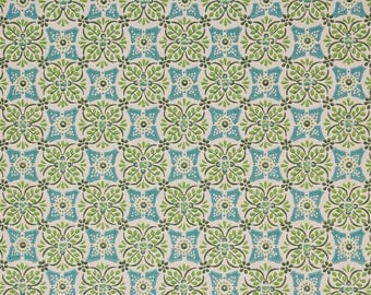 1960's Vintage Wallpaper Blue and Green Geoemtric
