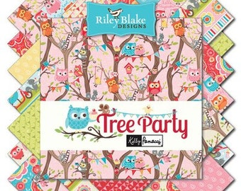 Tree Party (18) Fat Quarter Bundle COMPLETE - Kelly Panacci for Riley Blake Fabrics