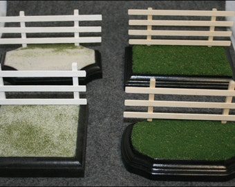 3x5 Grass or Sand Display Base for Model Horses with or without Fence holes for Removable Fencing