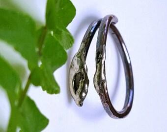 Symbolic Snake Ring, Serpent Ring, Healing Jewelry, Symbolic, Symbolism, Stacking Ring, Rebirth, Reptile Ring, Metalwork, Adjustable, Unisex