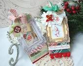Jolly Shabby  Chic Handmade Tag Set