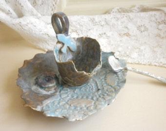 Handmade Fairytale Teacup Set with Pewter Soon