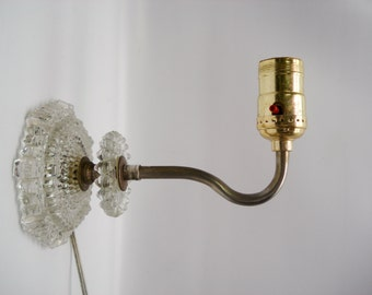 Vintage glass wall sconce