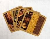 Autum Theme Coasters, Thanksgiving Coasters,