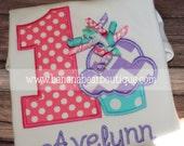 Korker Cupcake Birthday Shirt - Pink Lavender Aqua  Cupcake