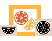 NEW for 2016 Citrus Slices Rubber Stamp set