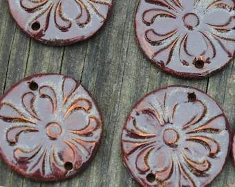 Essential Oil Diffuser Pendant Bead for Aromatherarpy in Copper Brown
