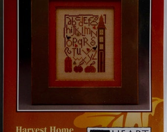 Cross Stitch kit, Heart in Hand Needleart, Harvest Home Sampler
