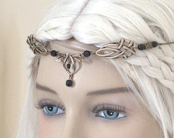 Érin Celtic Circlet Medieval Faery Tiara Bronze Black