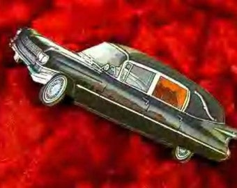 Funeral Hearse Brooch or Pin-Back> The LAST Ride> Death> Cemetary>