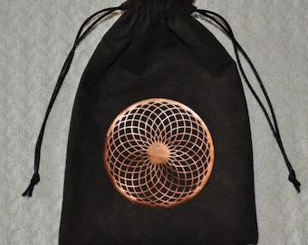 Sacred geometry torus tarot drawstring bag