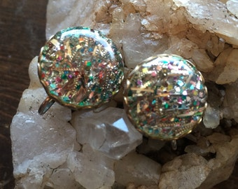 Vintage Sarah Coventry confetti earrings