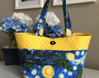 Starry Night Tote Bag/Purse