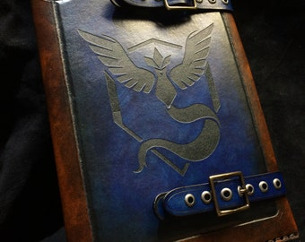 Leather Pokemon Team Mystic journal - day planner - book cover