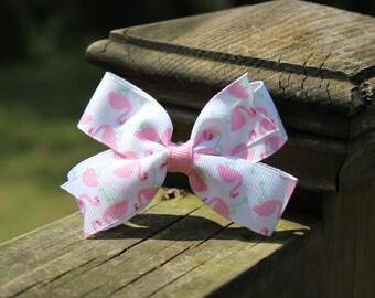 Pink Flamingo Hairbow