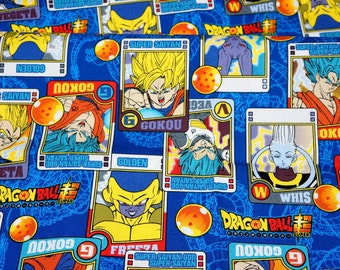 "Dragon ball fabric 50 cm by 106 cm or 19.6"" by 42"" Half meter"