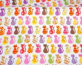 Colorful cat print half meter nc43