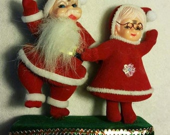 sale - Vintage Santa and Mrs. Claus