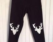 Deer Knee Patch Leggings by The Trendy Tot