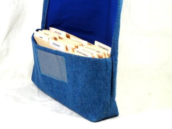 Coupon Organizer, Coupon Holder, Coupon Bag, Coupon Wallet, Cash Budget, Budget Organizer, Blue Denim
