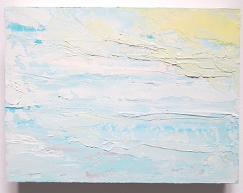 Abstract Sky Painting: Up in the Clouds, oil painting, cloud painting, sky painting, skyscape, beach inspired