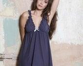 Lingerie Nightgown - babydoll nightie, organic cotton nightdress, sleepwear, cotton nightgown, organic pajamas, honeymoon lingerie