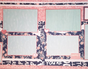 YOU & ME 12 x 12 Premade Scrapbook Pages