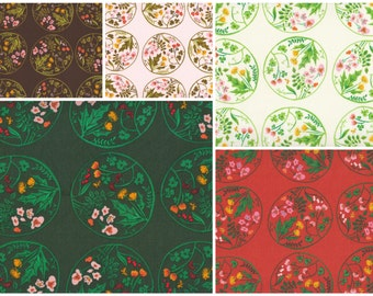 Tiger Lily by Heather Ross - Wildflowers bundle HR40928, 5-piece fat quarter set