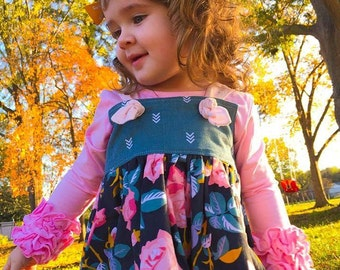 Toddler Girls Dress, Girls Clothing, Fall Dress, Toddler Dress, Knot Dress, Infant Dress, Tween Dress, Winter Dress, Groovy Gurlz