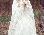 Limited time Custom Order! Gwendolyn Princess Fairy Medieval Velvet and Lace Wedding Gown and Cape Your size/color