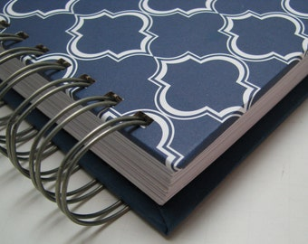 Wedding Keepsake/ Wedding Guest Address Book/ Wedding Guest Book Alternative/ Guest Address Book/ Guest Book Idea/ Blue Lattice Customize
